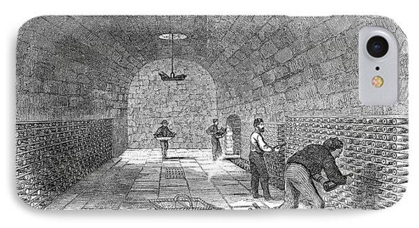 Winemaking Storage, 1866 IPhone Case by Granger
