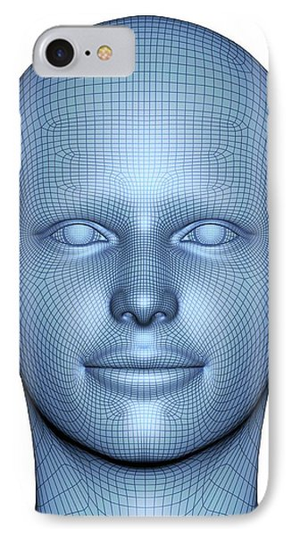 Wireframe Head IPhone Case by Alfred Pasieka