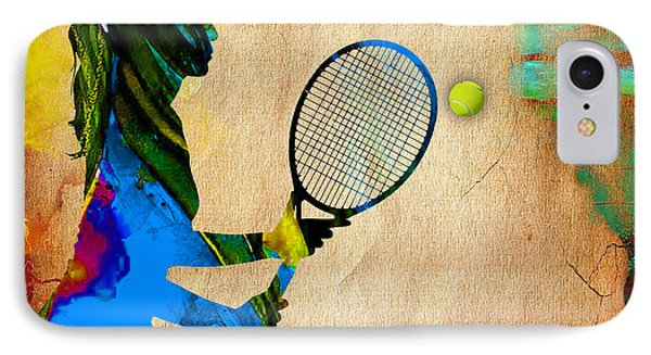 Womens Tennis IPhone Case by Marvin Blaine