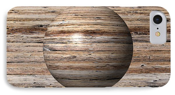 Wooden Globe IPhone Case by Henrik Lehnerer