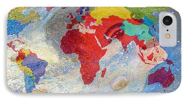 World Map And Barack Obama Stars IPhone Case