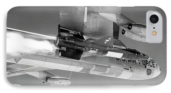 X-15 Aircraft On A Boeing B-52 IPhone Case by Nasa