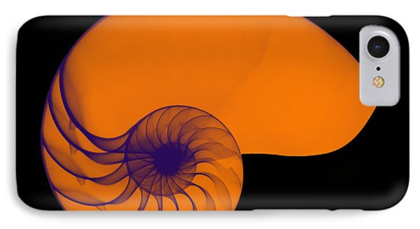 X-ray Of Nautilus Phone Case by Bert Myers