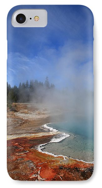 Yellowstone Park Geyser Phone Case by Frank Romeo