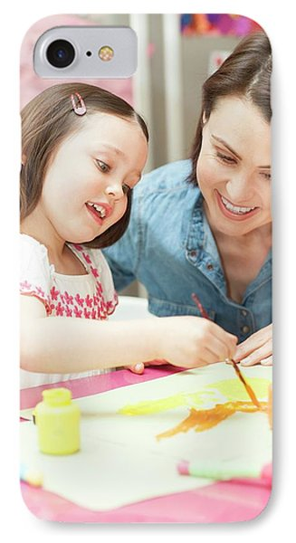 Young Girl Painting IPhone Case