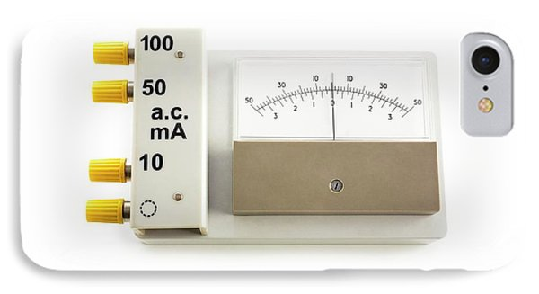 Zero-centre Ammeter IPhone Case by Science Photo Library