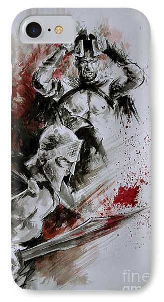 300 Spartan - Death And Glory. IPhone Case