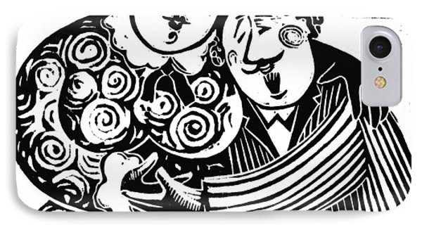 IPhone Case featuring the drawing American  Proverbs by Mikhail Zarovny