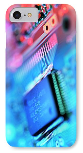 Circuit Board IPhone Case by Tek Image