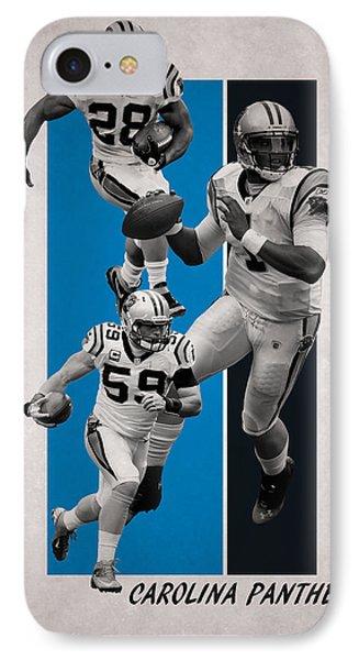 Panther iPhone 7 Case - Carolina Panthers by Joe Hamilton