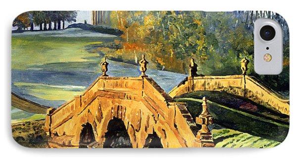 355 Ancient English Bridge IPhone Case by David Lloyd Glover