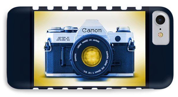 35mm Blues Canon Ae-1 Phone Case by Mike McGlothlen