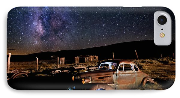 '37 Chevy And Milky Way IPhone Case by Cat Connor