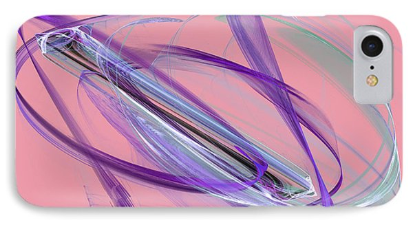 Symmetrical Lines And Lights Figures  IPhone Case