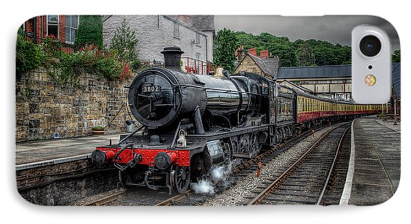3802 At Llangollen Station IPhone Case by Adrian Evans