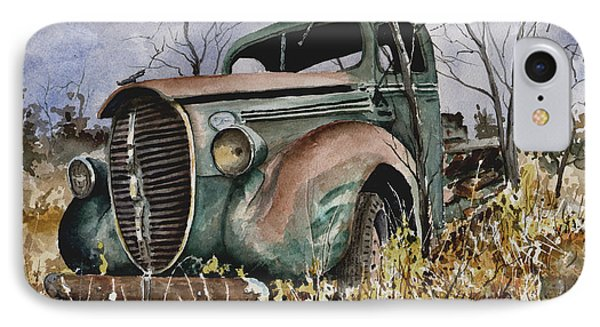 39 Ford Truck IPhone Case by Sam Sidders