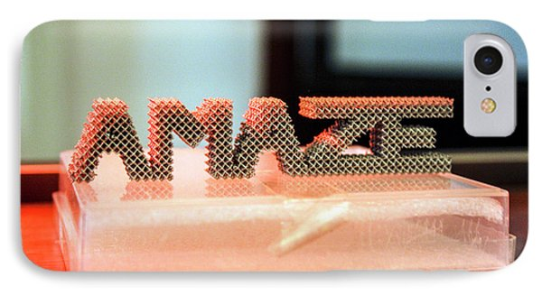 3d Printed Titanium Net Shape IPhone Case by Esa-n. Vicente