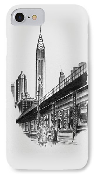 New York City - Elevated Chrysler IPhone Case