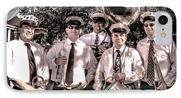 3rd Line Brass Band Phone Case by Renee Barnes