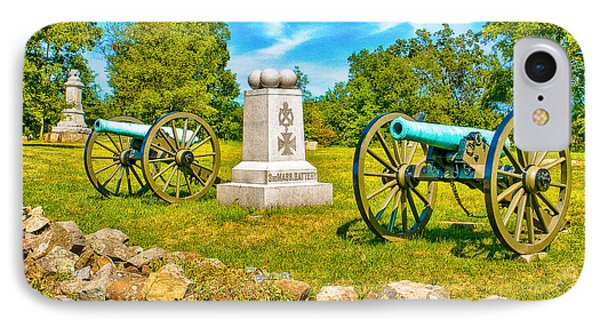 3rd Massachusetts Battery Gettysburg National Military Park Phone Case by Bob and Nadine Johnston