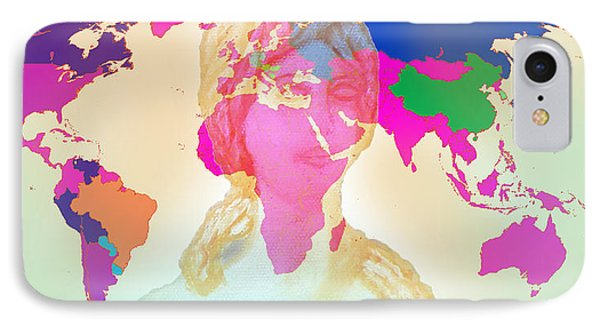Aphrodite And World Map  IPhone Case