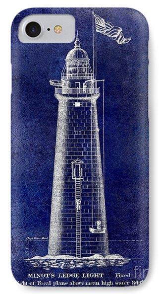 1852 Minot's Ledge Lighthouse IPhone Case by Jon Neidert