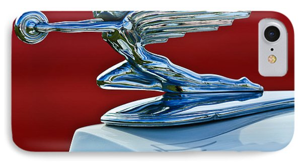 1936 Packard Hood Ornament IPhone Case by Jill Reger