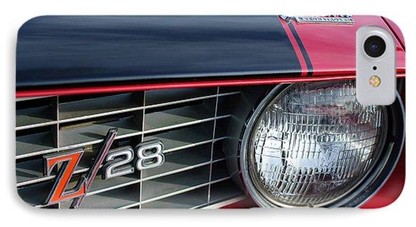 1969 Chevrolet Camaro Z-28 Grille Emblem Phone Case by Jill Reger