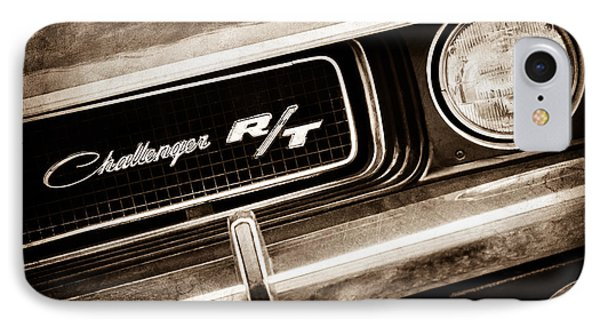 1970 Dodge Challenger Rt Convertible Grille Emblem Phone Case by Jill Reger