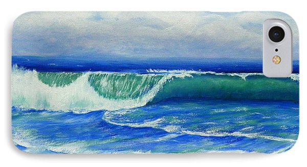 IPhone Case featuring the painting A Wave To Catch by Shelia Kempf
