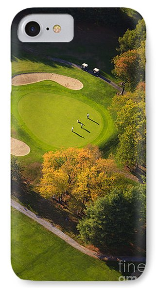 Aerial Image Of A Golf Course. IPhone Case