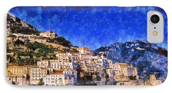 Amalfi Town In Italy Phone Case by George Atsametakis