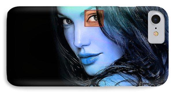 Angelina Jolie IPhone Case by Marvin Blaine