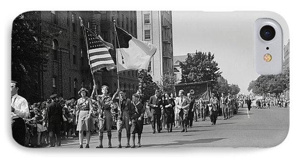 Anniversary Day Parade Of The Sunday IPhone Case by Stocktrek Images