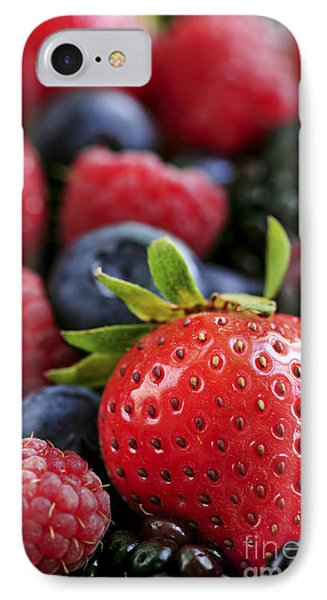 Raspberry iPhone 7 Case - Assorted Fresh Berries by Elena Elisseeva