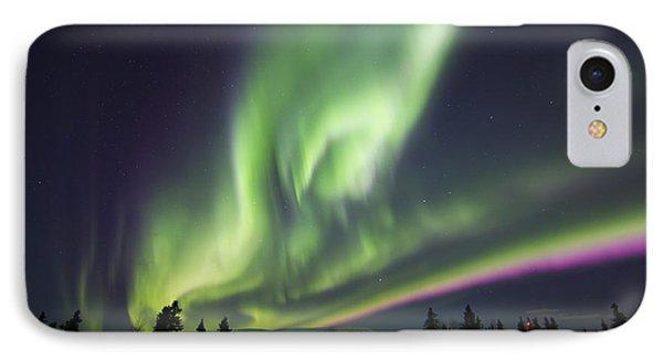 Aurora Borealis Over A Ranch Phone Case by Joseph Bradley
