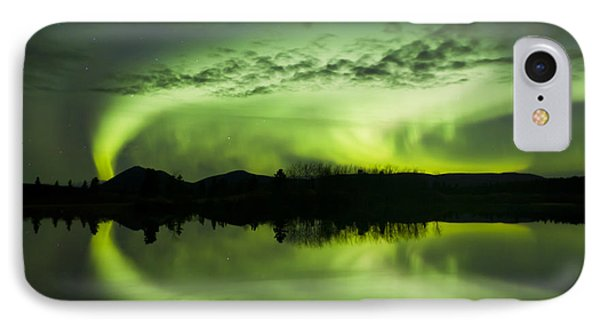 Aurora Borealis Over Fish Lake Phone Case by Joseph Bradley