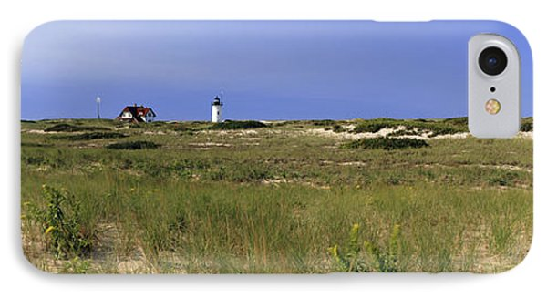 Beach With Lighthouse IPhone Case by Panoramic Images