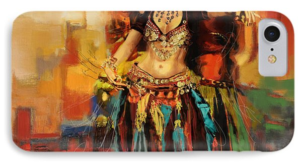 Belly Dancer 9 IPhone Case by Corporate Art Task Force