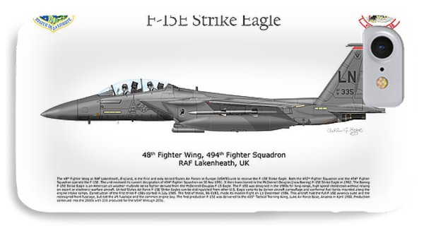 Boeing F-15e Strike Eagle IPhone Case by Arthur Eggers