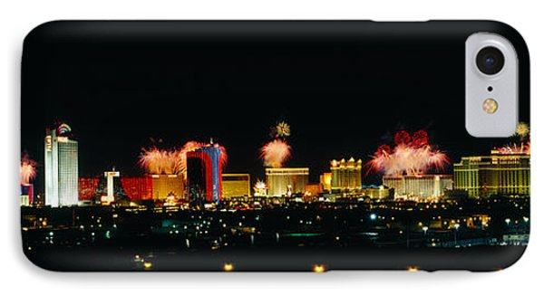 Buildings Lit Up At Night, Las Vegas IPhone Case by Panoramic Images