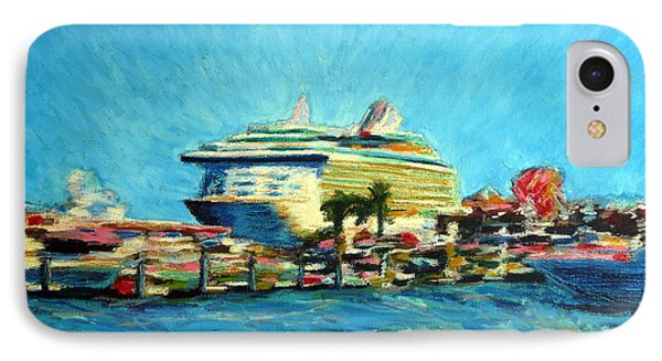 Cabo Marina Cruise Ship  IPhone Case by Gerhardt Isringhaus