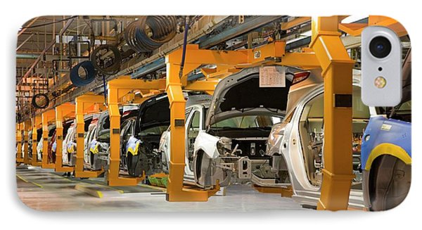 Car Assembly Production Line IPhone Case by Jim West