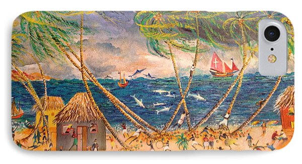 Caribbean Village Phone Case by Egidio Graziani
