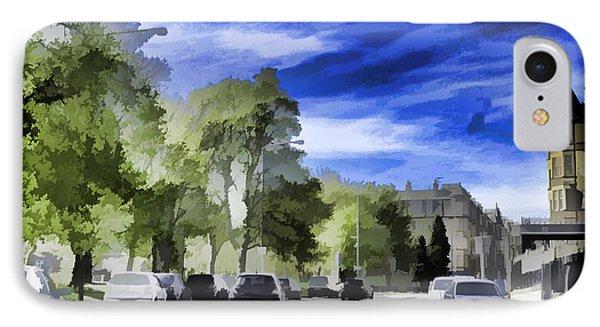 Cars On A Street In Edinburgh IPhone Case