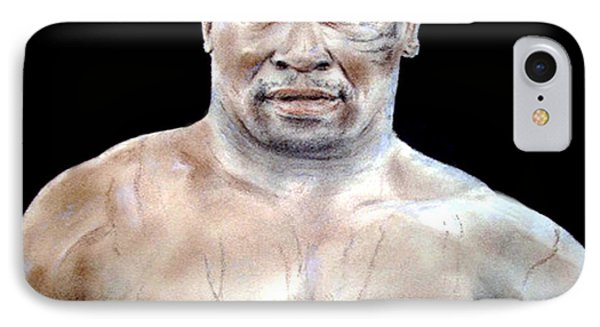 IPhone Case featuring the painting Champion Boxer And Actor Mike Tyson by Jim Fitzpatrick