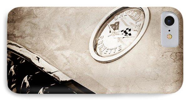 Chevrolet Corvette Hood Emblem Phone Case by Jill Reger