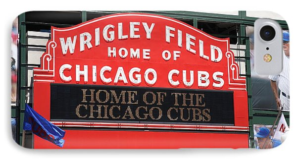 Chicago Cubs - Wrigley Field IPhone Case by Frank Romeo