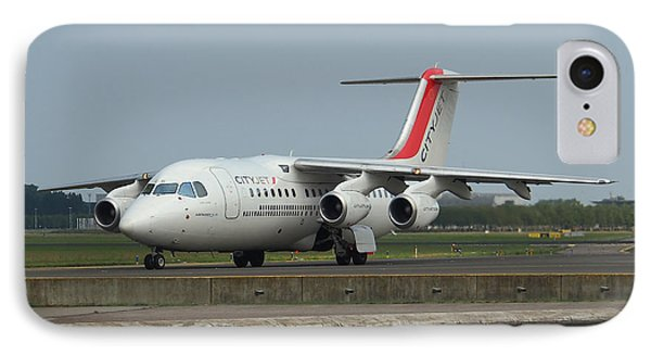 Cityjet British Aerospace Avro Rj85 Phone Case by Paul Fearn