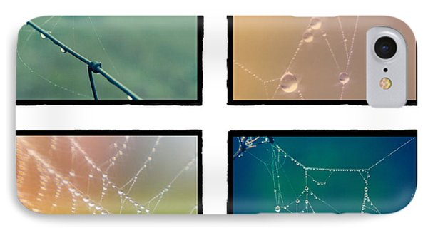 4 Color Web Droplets IPhone Case by Beverly Stapleton